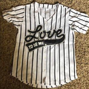 Youth Girls Size 14 Baseball type T-Shirt.